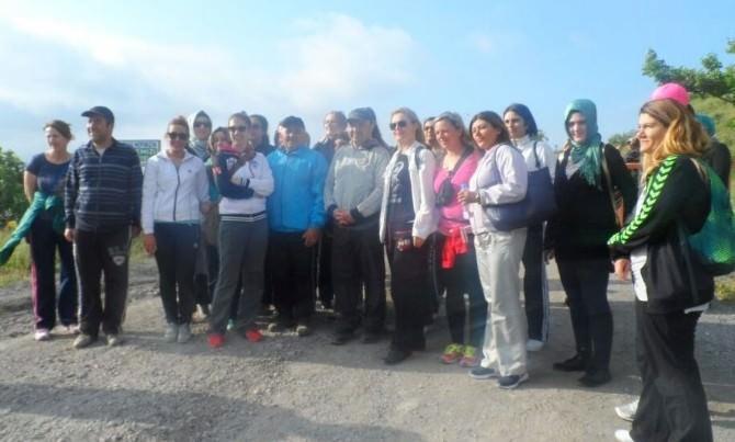 Talas Spor Tesisi Üyelerinden Sağlıklı Yaşam Yürüyüşü