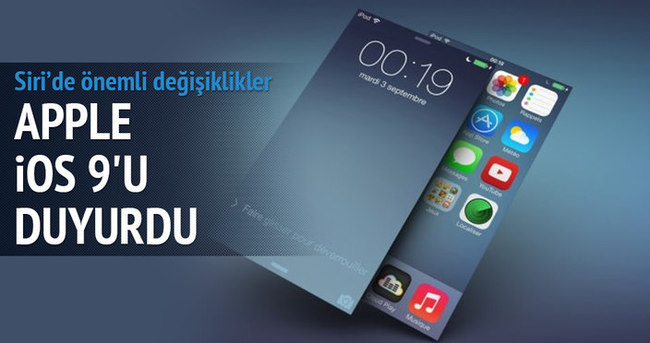 Apple iOS 9'u duyurdu