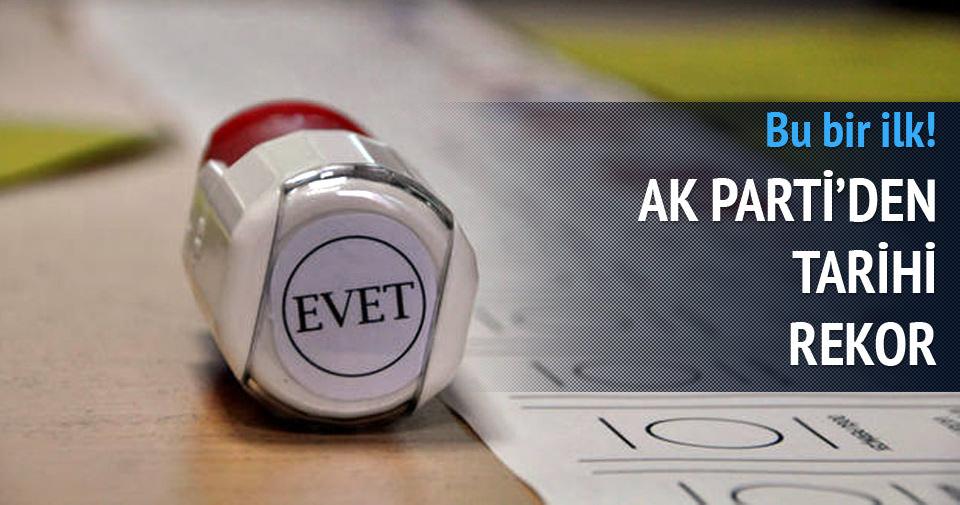 AK Parti'den tarihi rekor!