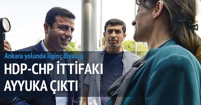 Demirtaş ve CHP'li vekil arasında ilginç diyalog