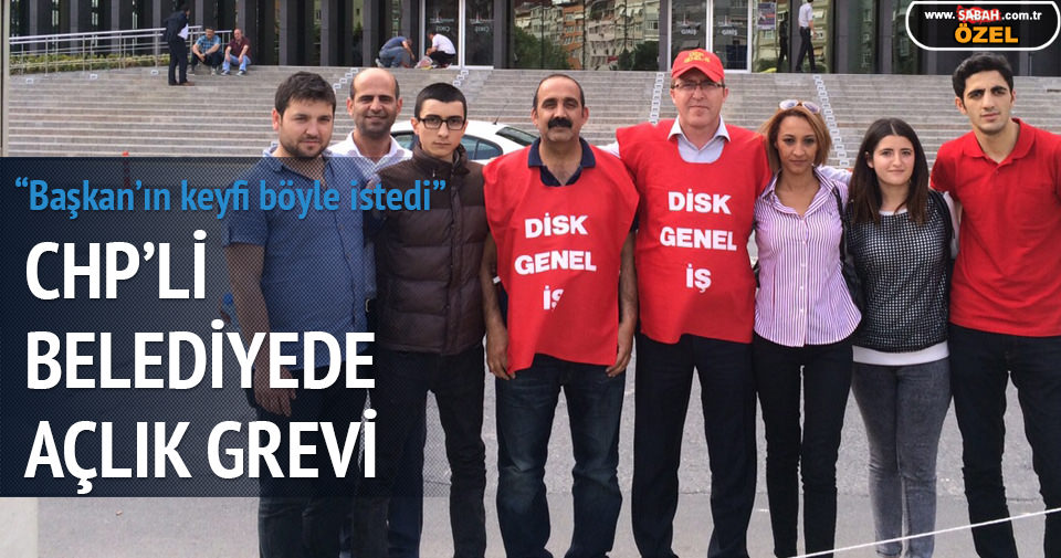 CHP'li belediyede açlık grevi