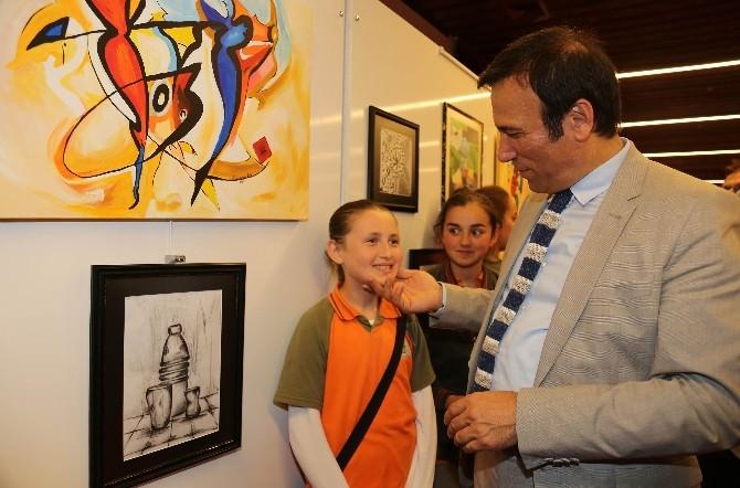 Canik Başalan Cumhuriyet Ortaokulu'ndan Resim Sergisi