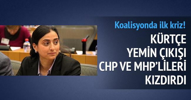 Kürtçe yemin çıkışı CHP ve MHP'lileri kızdırdı