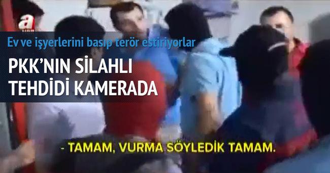 PKK'nın silahlı tehdidi kamerada