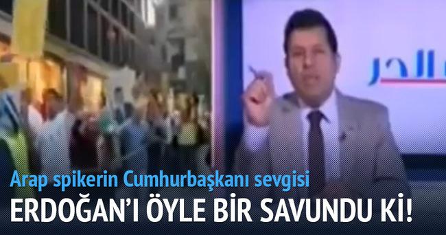Arap spiker Erdoğan'ı böyle savundu