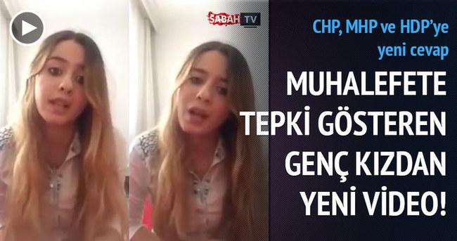 Muhalefete tepki gösteren AK Partili kızdan yeni video