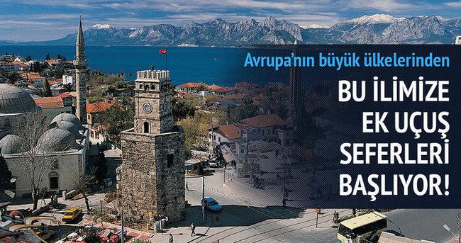 Almanya ve İsviçre'den Antalya'ya ek sefer başlatıldı