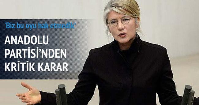 Anadolu Partisi'nden kritik karar