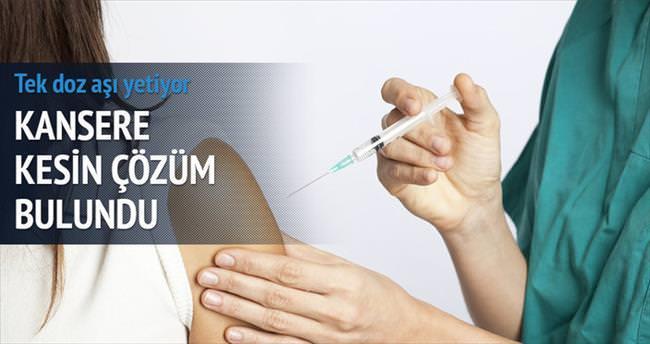'Tek doz aşı rahim ağzı kanserine kesin çözüm'