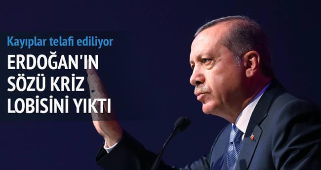 Erdoğan konuştu piyasalar yatıştı