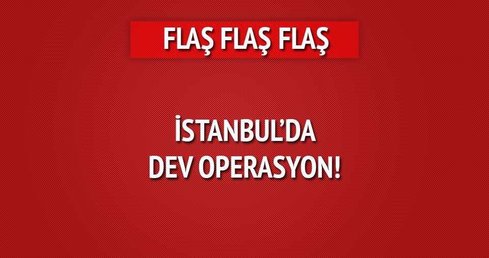 İstanbul'da helikopter destekli operasyon