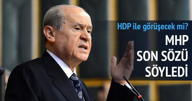 Bahçeli: HDP'yi yok sayıyorum