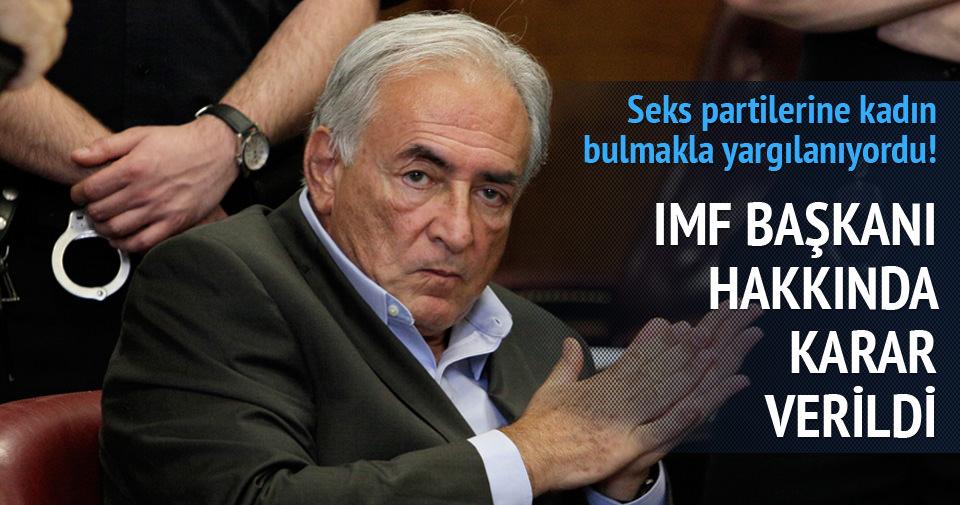 Eski IMF Başkanı hakkında karar verildi