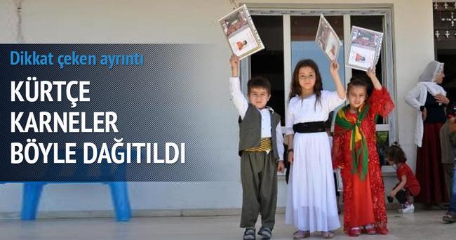 Cizre'de Kürtçe eğitim verilen okulda karneler dağıtıldı