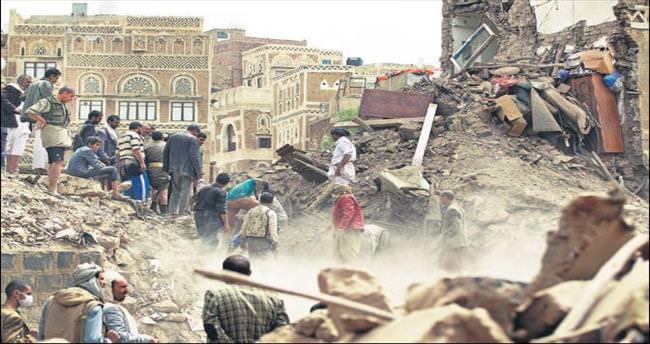 Arap koalisyonu Yemen'de kültür miraslarını vurdu