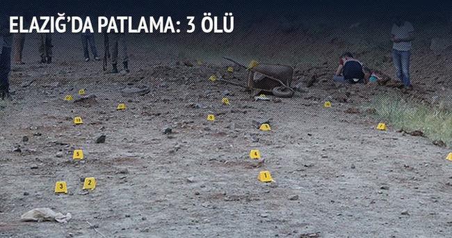 Elazığ Palu'da patlama, 3 ölü!