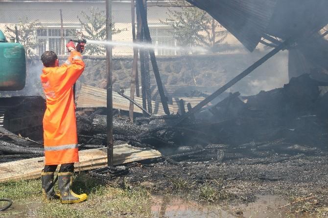 DSİ Deposunda Yangın
