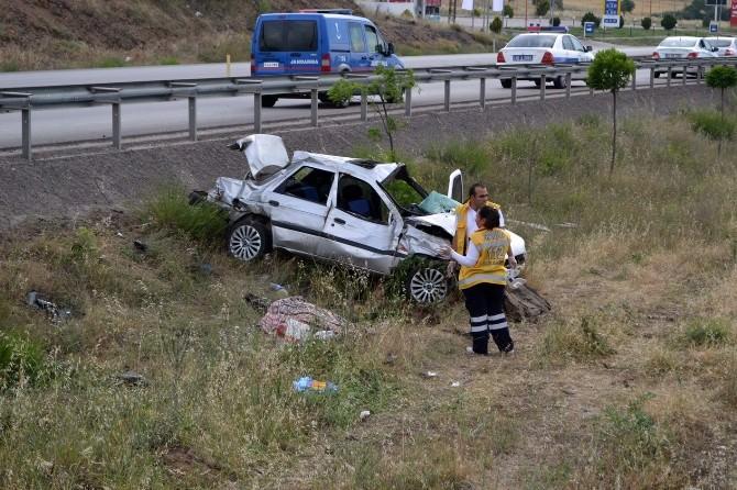 Sandal Kavşağında Kaza: 1 Ölü, 2 Yaralı