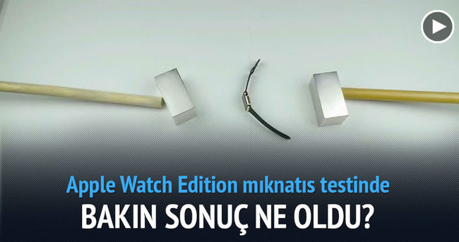 Apple Watch Edition mıknatıs testinde paramparça oldu
