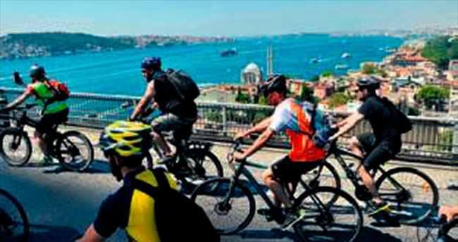 Boğaz Köprüsü'nde bisiklet festivali