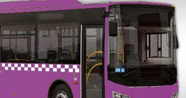 Sakarya'da otobüslerin yeni rengi mor oldu