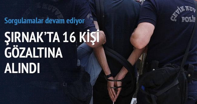 Silopi'de gümrük operasyonu: 16 gözaltı
