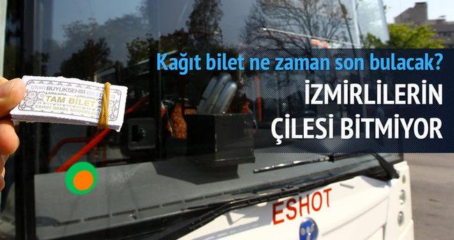 İzmir'de kağıt bilet uygulaması 28 Haziran'a kadar sürecek