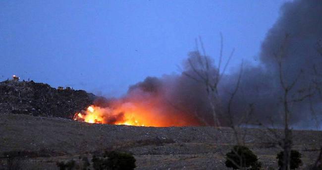 İzmir'de çöp depolama alanında yangın