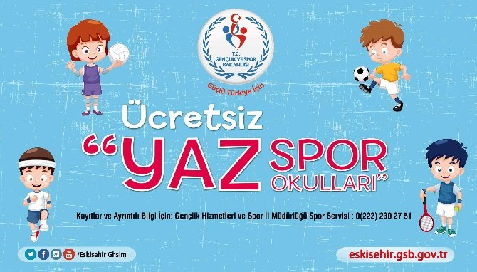Yaz Spor Okulları Başladı