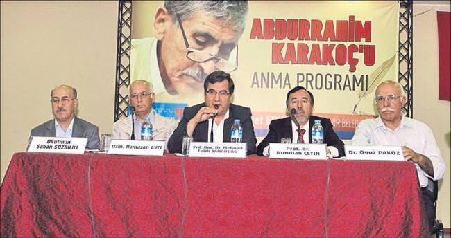 Abdurrahim Karakoç memleketinde anıldı