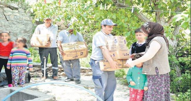 Dar gelirli ailelere yardım eli uzandı