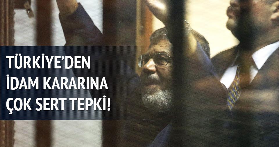Türkiye'den Mursi'nin idam kararına ilk tepki