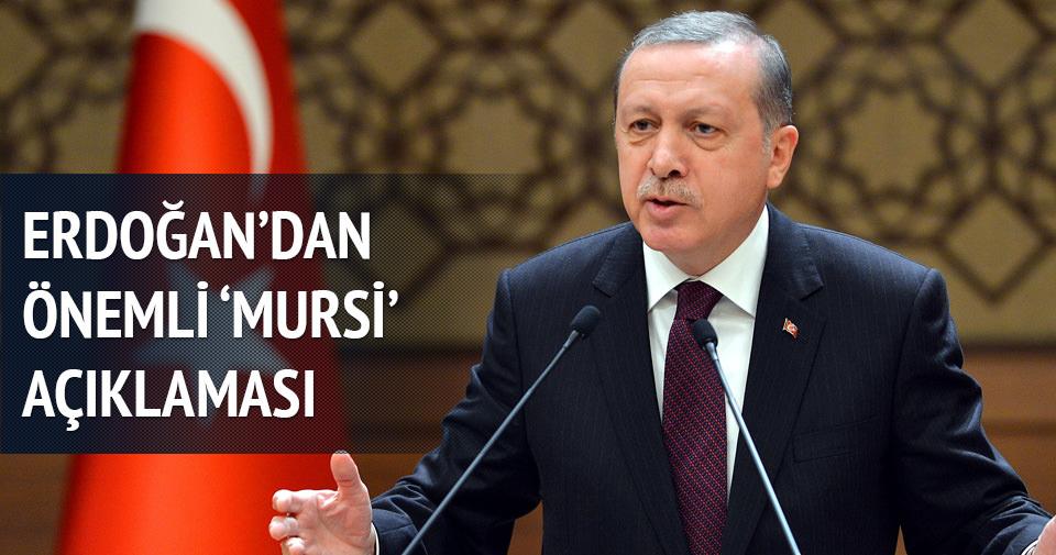Erdoğan'dan Mursi'ye idam kararına ilk tepki
