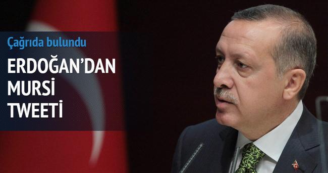 Erdoğan'dan Mursi tweeti