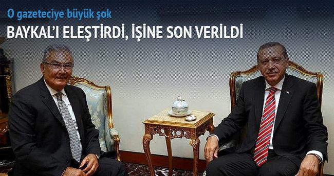 Baykal'ı eleştiren gazetecinin işine son verildi