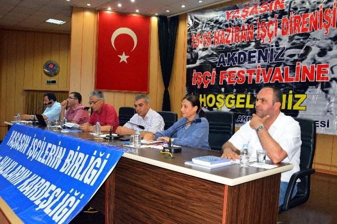 Akdeniz İşçi Festivali'nin 3.'sü Gerçekleştirildi