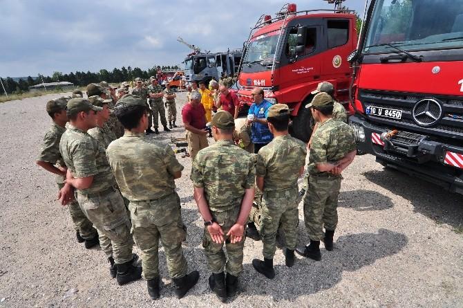 Yangın Sezonu Öncesi Askeri Birliklere Eğitim