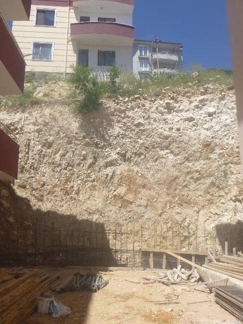 Kışın Çöken İstinat Duvarının Yapımına Başlanıldı