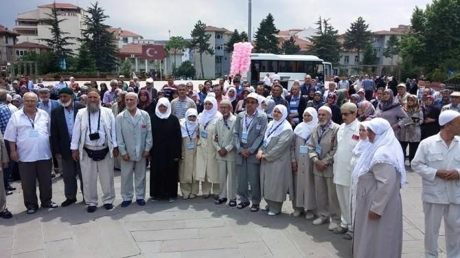 Bozüyük'te Ramazan Umrecileri Kutsal Topraklara Uğurlandı