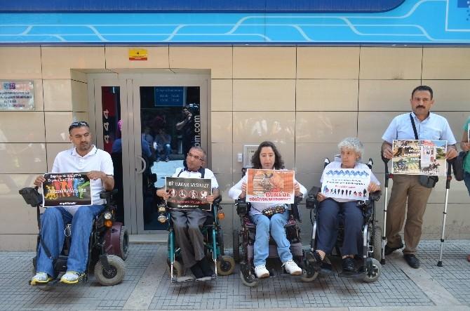 Engellilerden Sessiz Protesto