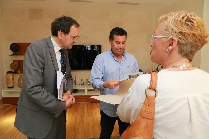 Fransa Büyükelçiliği Ekonomi Müsteşarı Başkan Kocadon'u Ziyaret Etti