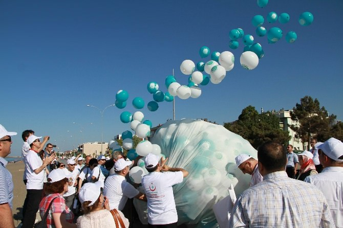 Balonlar Dumansız Hava Sahası İçin Gökyüzüne Bırakıldı