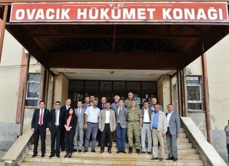 Tunceli Valisi Ovacık'ı Ziyaret Etti