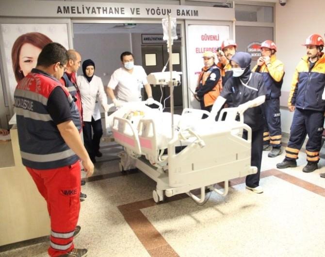 """Afyonkarahisar Devlet Hastanesi'nde """"Yangın Ve Kurtarma"""" Tatbikatı"""