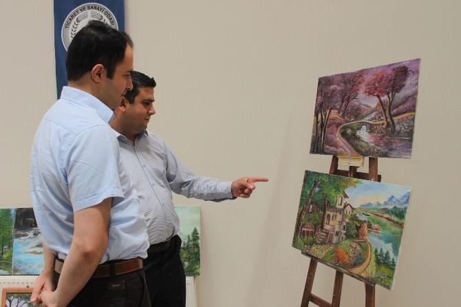 Aksaray'da Türkmenler Yararına Resim Sergisi Açıldı