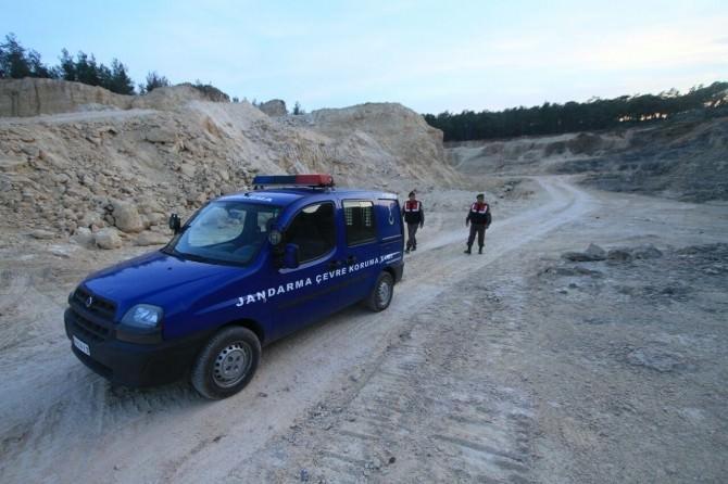 Jandarma Mermer Ocaklarını Denetledi