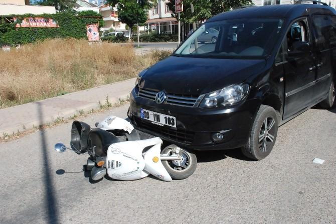 Didim'de Trafik Kazası; 1 Yaralı