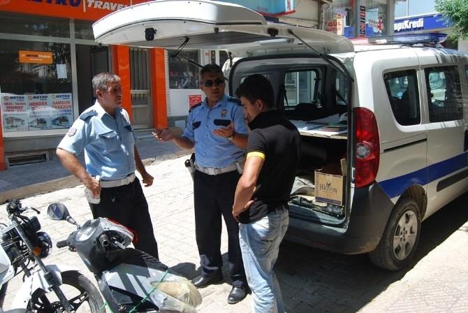 Malkara'da Plakasız Motosikletlere Ceza Yağdı