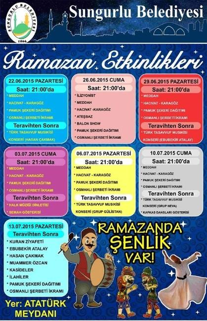 Sungurlu'da Ramazan Şenlikleri Düzenlenecek