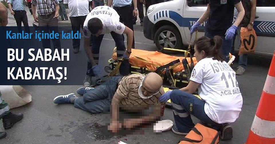 Kabataş'ta motor kazası